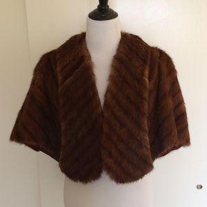 Vintage fur stole, M/L